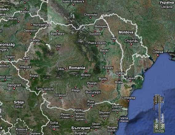 Auslandsfernfernsehempfang in Rumänien